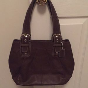Chocolate Brown Coach Tote Handbag